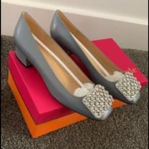 Kate Spade NWOT Gray Mixer Heel